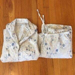 L.L. Bean 100% Cotton Floral Pajama Set